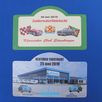 Rallybordjes Klassieker Club Steenbergen