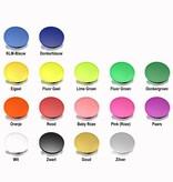 CombiCraft Plastic munten met rand 100 stuks Ø29mm diverse kleuren met een bedrukking voor KLEINVERBRUIKERS.