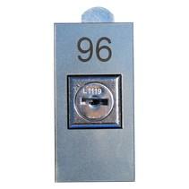 Nummerplaatjes Acrylaat met gat voor slot