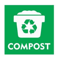 Compost bordje met afvalbak