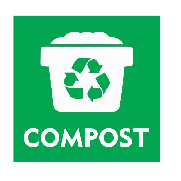 CombiCraft Compost bordje met afvalbak 10x10cm
