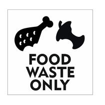Food Waste Only bordje [met kippenbout]