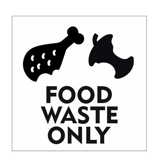 CombiCraft Food Waste Only bordje met kippenbout 10x10cm