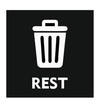 Rest afval bordje