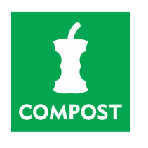 Compost bordje [met appel]