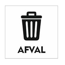 Afval bordje
