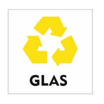 Recycle Glas bordje