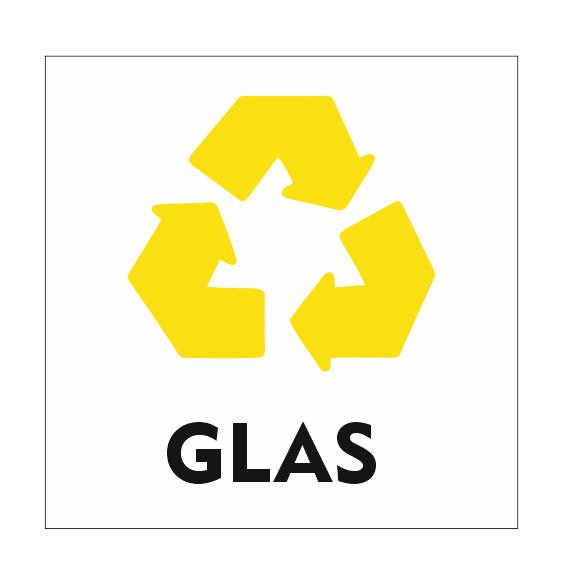 CombiCraft Recycle Glas bordje 10x10cm