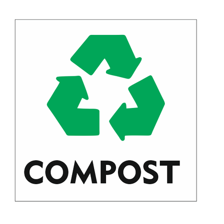 CombiCraft Recycle Compost bordje 10x10cm