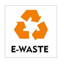 Recycle E-waste bordje