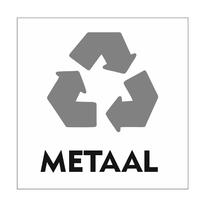 Recycle Metaal bordje