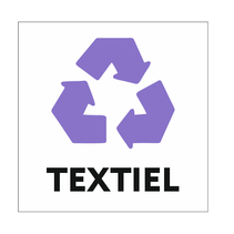 Recycle Textiel bordje