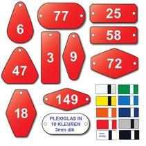 Nummerplaatjes Plexiglas