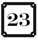 CombiCraft Huisnummerbordje Parisienne - Nummerplaatjes in verschillende maten en weergaves.