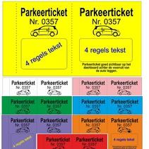 Parkeertickets met uw tekst op onze format.