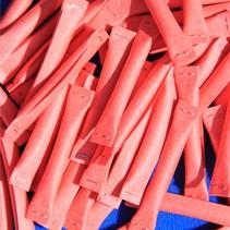 100 Rode rol-lootjes voorzien van nummers