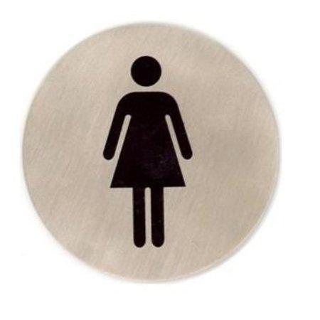 CombiCraft Dames toiletbordje edelstaal Ø75mm met tape
