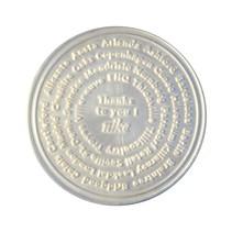 Gegoten munten onedel zilver