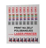 CombiCraft 1.000 Polsbandjes op A4 vellen voor Laserprinters om zelf te bedrukken.