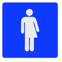 Genderneutraal toiletbordje