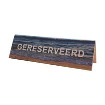 Tafelbordje Gereserveerd zee en strand