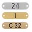 CombiCraft Aluminium deurbordje labelvorm met zwarte gravering