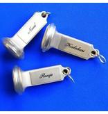 CombiCraft  CASTELLO Zilverkleurig Messing Hotelsleutelhanger - in verschillende uitvoeringen leverbaar