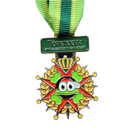 CombiCraft Gegoten medaille ingekleurd met jouw eigen ontwerp