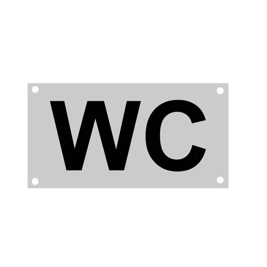 CombiCraft WC algemeen toiletbordje 88x46mm