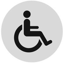 Invaliden toiletbordje Aluminium