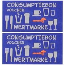 Consumptiebon op strip UV-beveiliging