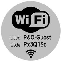 Wifi bordje met uw Wifi gegevens bordje