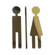 Man en vrouw symbool messing