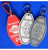 CombiCraft Kunststof Sleutelhangers & Sleutellabels Model E9 voorzien van jouw logo, tekst en nummering