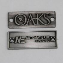 Brons gegoten Logo plaatje/merkje in reliëf