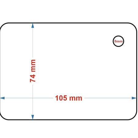 CombiCraft A4-Vellen Laseretiketten en Laserlabels van polyester in 150 micron, per vel met 8 etiketten  voor kleinverbruik