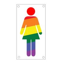 Dames toiletbordje regenboog