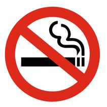 Niet-roken bordje