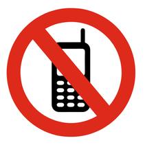 Geen mobiele telefoon bordje