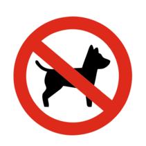 Geen honden bordje