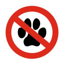 Geen dieren bordje
