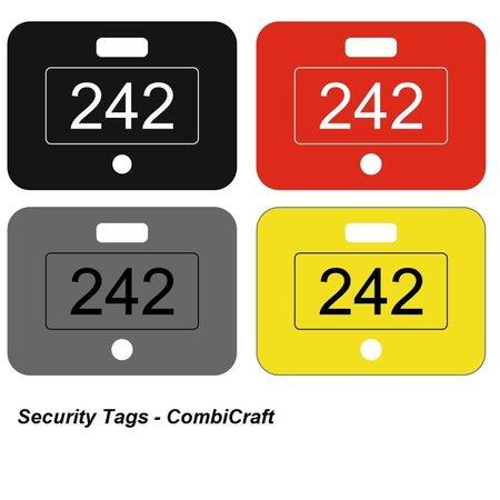 CombiCraft Security Tags Acrylaat met jouw eigen nummers