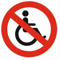 Geen rolstoel bordje