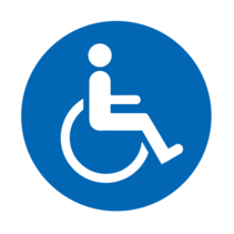 Geschikt voor rolstoel bordje Aluminium