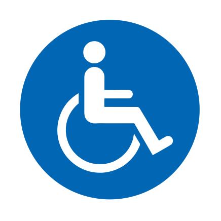 CombiCraft Geschikt voor rolstoel bordje Aluminium Ø75mm met tape