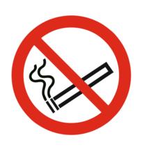 Roken verboden bordje