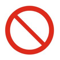 Algemeen verbodsteken bordje