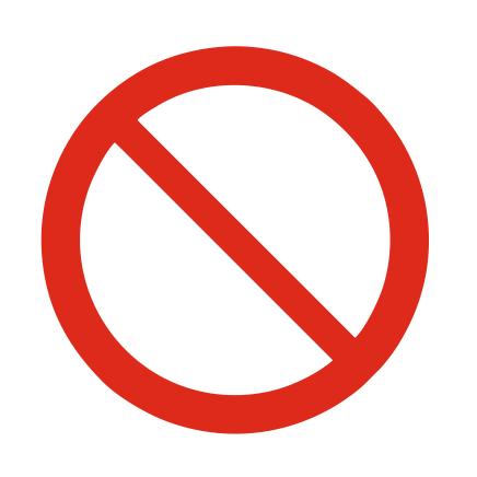 CombiCraft Algemeen verbodsteken bordje ISO 7010 P001 Aluminium Ø75mm met tape