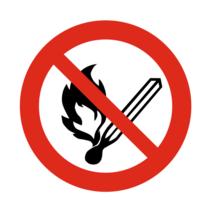 Open vuur verboden bordje