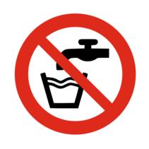 Geen drinkwater bordje